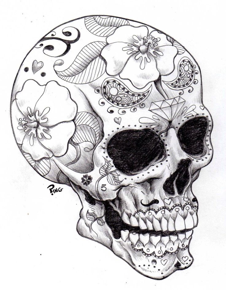 Woman skull tattoo clipart black and white image transparent stock 40+ Black And White Tattoo Designs image transparent stock