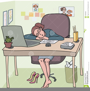 Woman sleeping at desk clipart png free Clipart Woman Sleeping At Work | Free Images at Clker.com ... png free