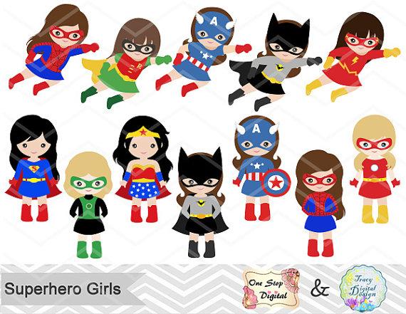 Women superheroes clipart transparent download 27 Superhero Girls Digital Clipart, Superhero Clip Art, Girl ... transparent download