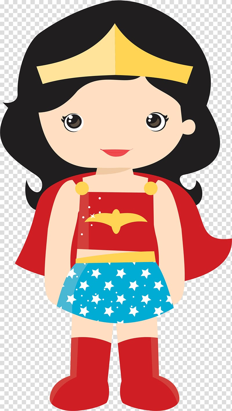 Women superheroes clipart svg library library Wonder Woman illustration, Diana Prince Batgirl Superhero ... svg library library