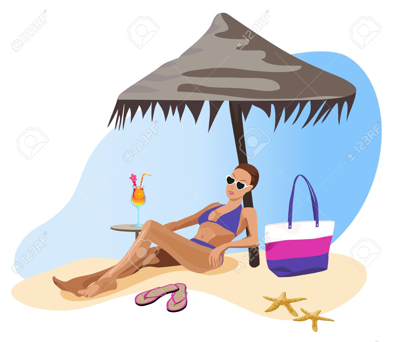 Woman tanning clipart svg library stock Sunbathing Clipart | Free download best Sunbathing Clipart ... svg library stock