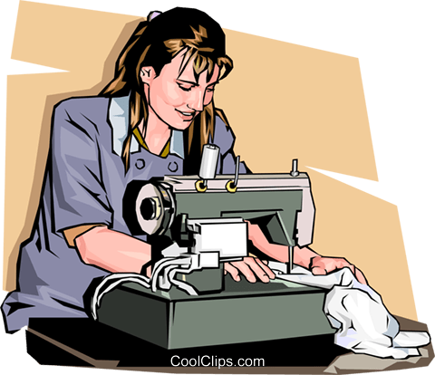 Woman using sewing machine clipart png stock woman with a sewing machine Royalty Free Vector Clip Art ... png stock