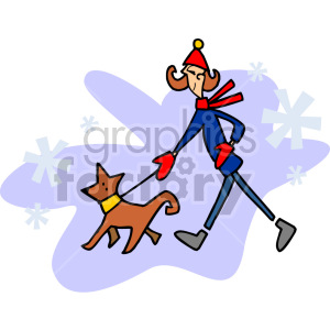 Woman walking her dog clipart clip transparent download lady walking her dog in the winter clipart. Royalty-free clipart # 155261 clip transparent download