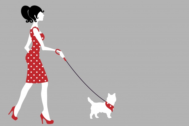 Woman walking her dog clipart clip art freeuse Woman Walking Dog Clipart Free Stock Photo - Public Domain ... clip art freeuse