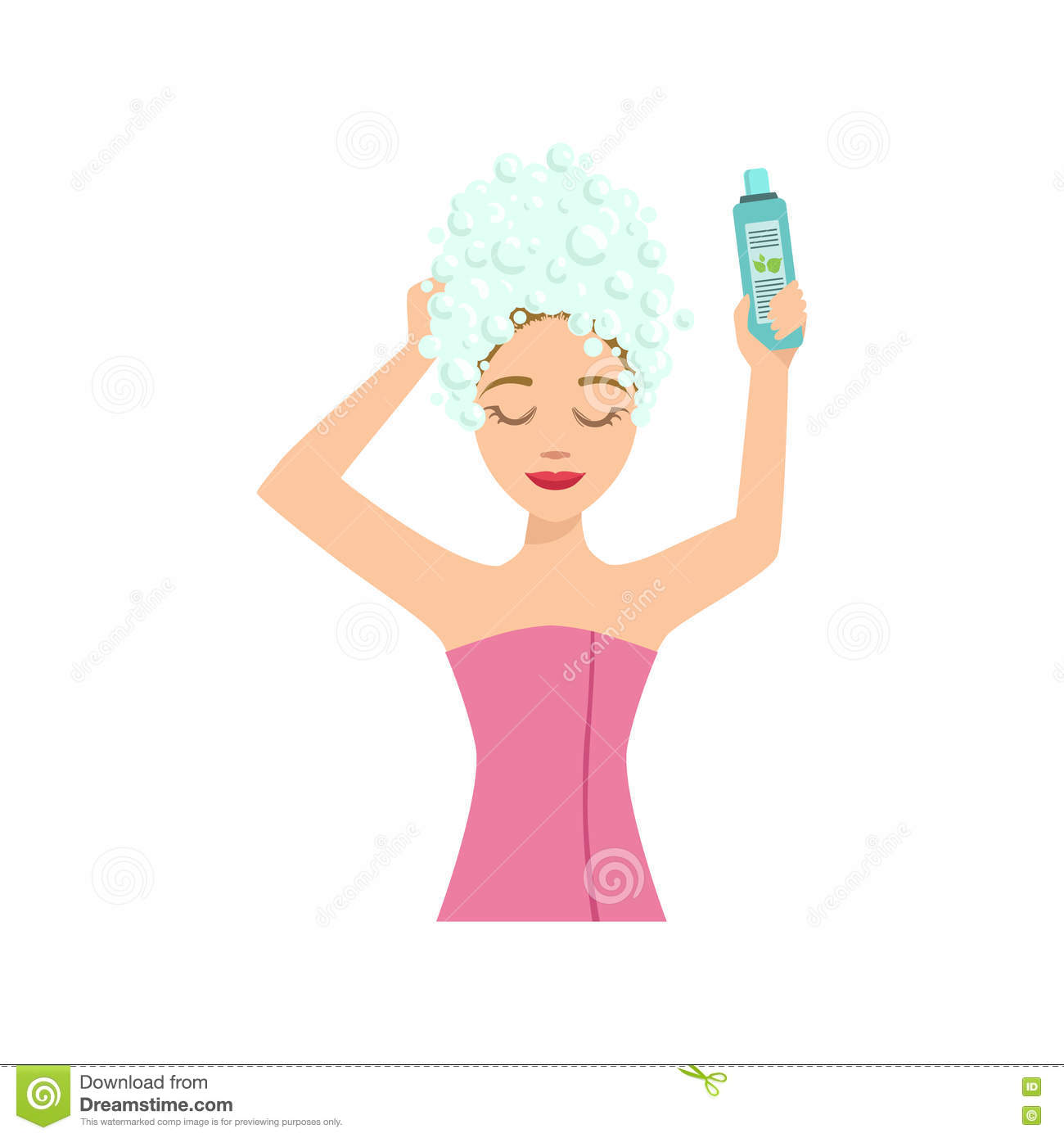 Woman washing hair free clipart graphic transparent stock Washing Hair Girl Clipart & Free Clip Art Images #21504 ... graphic transparent stock