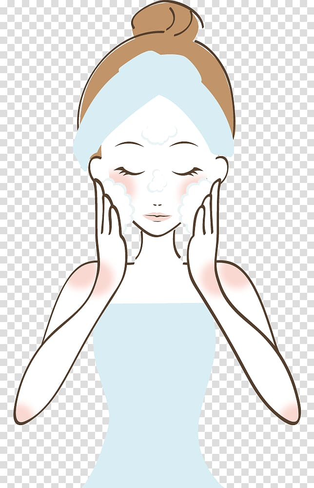 Woman washing her face clipart clip freeuse Woman washing her face illustration, Reinigungswasser Towel ... clip freeuse