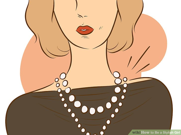 Woman wearing accessories clipart svg freeuse download How to Be a Stylish Girl (with Pictures) - wikiHow svg freeuse download