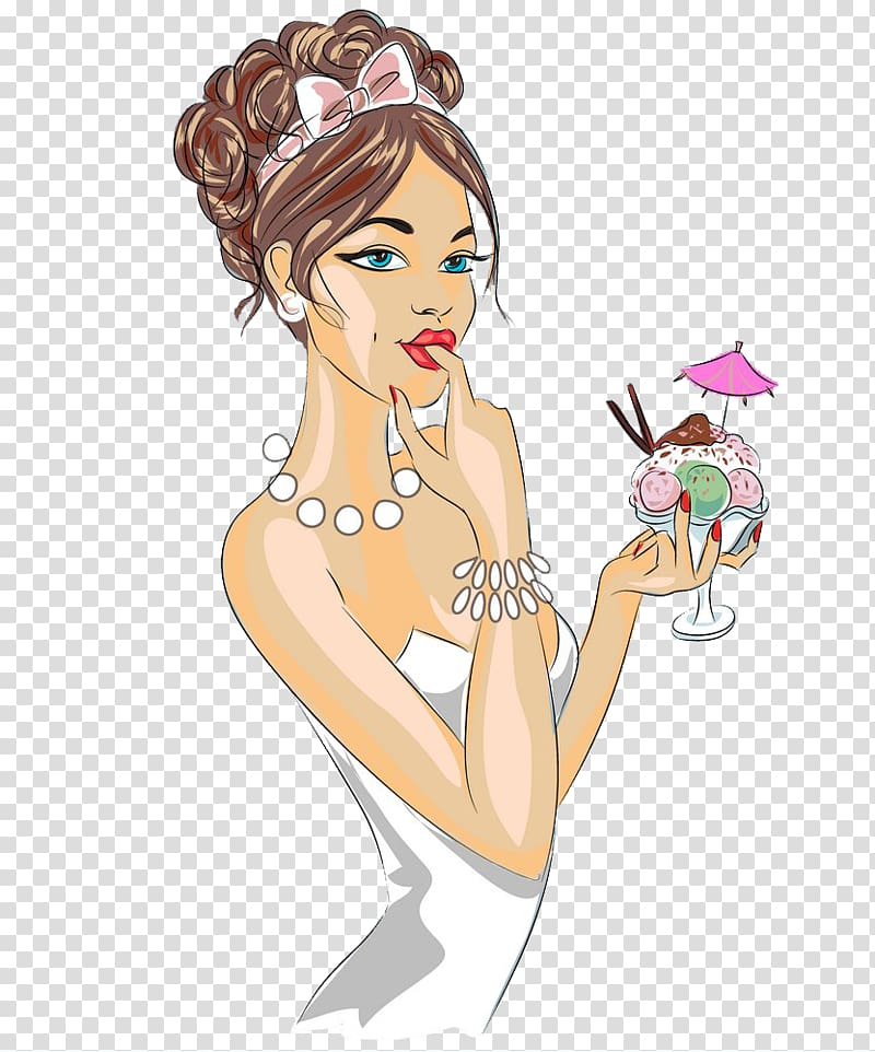 Woman wearing accessories clipart banner freeuse stock Cartoon Pretty Woman Girl, Pretty woman wearing dress ... banner freeuse stock
