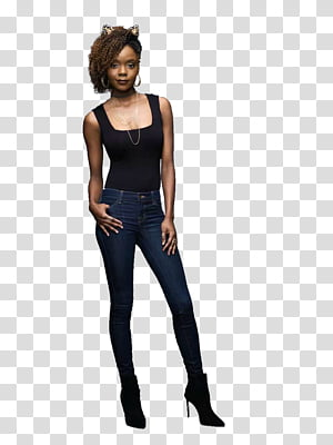 Woman wearing jeans clipart svg freeuse download One, woman wearing black top transparent background PNG ... svg freeuse download