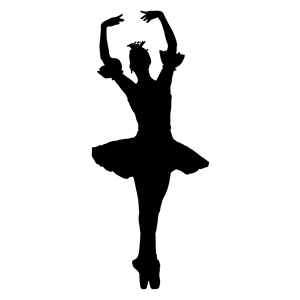 Woman with arms raised clipart jpg black and white download Arms Raised Ballerina Silhouette clipart, cliparts of Arms ... jpg black and white download