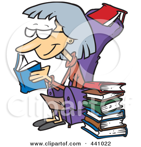 Woman with books clipart svg library Royalty-Free (RF) Clip Art Illustration of a Cartoon Woman Buried ... svg library
