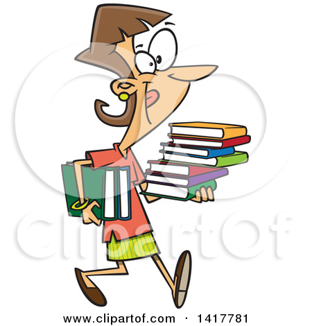 Woman with books clipart royalty free Royalty-Free (RF) Clipart of Text Books, Illustrations, Vector ... royalty free