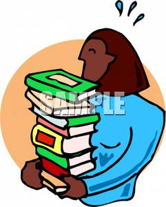Woman with books clipart vector royalty free stock Picture: A Woman Carrying a Stack of Books vector royalty free stock