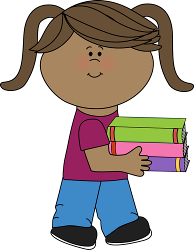 Woman with books clipart clip stock Woman carrying stack of books clipart - ClipartFest clip stock