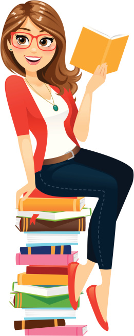 Woman with books clipart image transparent Clip Art, Vector Images & Illustrations - iStock image transparent