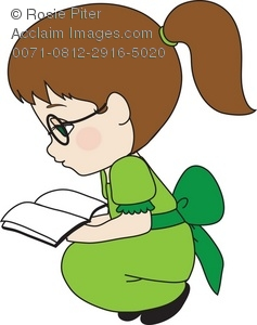 Woman with books clipart jpg library stock Clipart of girl with books - ClipartFest jpg library stock