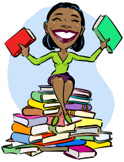 Woman with books clipart picture freeuse download Woman with books clipart - ClipartFest picture freeuse download