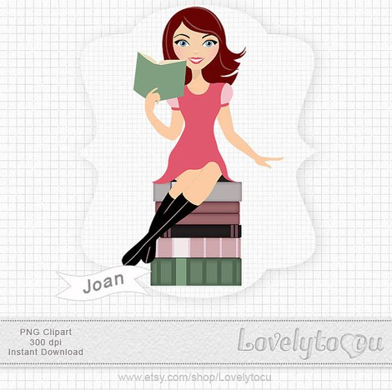 Woman with books clipart vector free library Woman books clipart, librarian digital PNG clip art (Joan 212b) IF ... vector free library