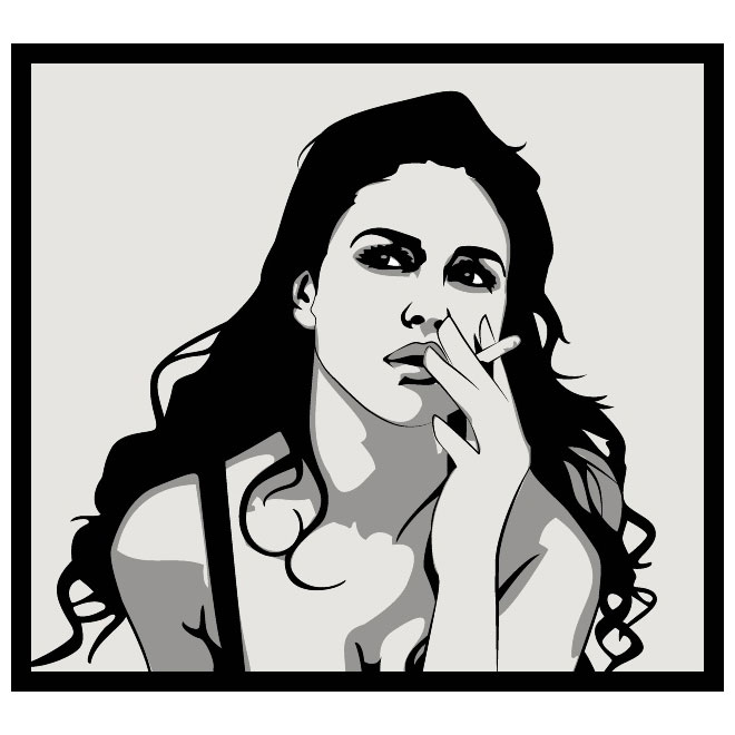 Woman with cigar clipart clip art royalty free GIRL SMOKING CIGARETTE VECTOR - Free vector image in AI and ... clip art royalty free