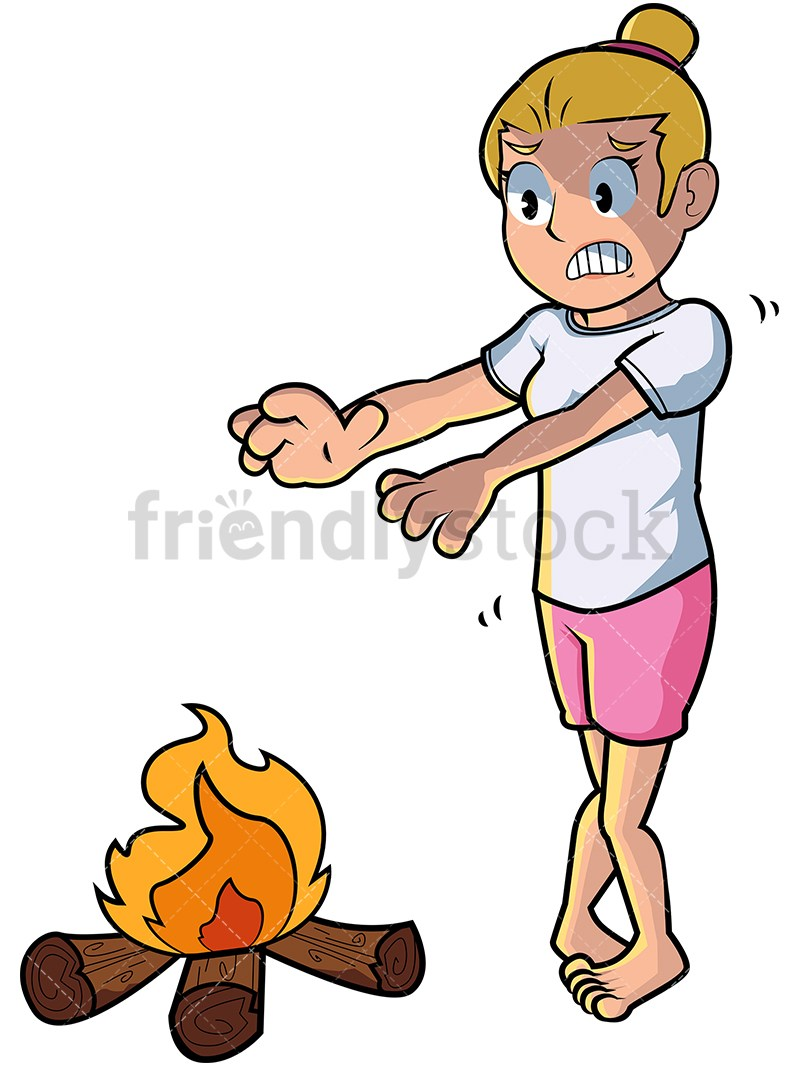Woman with cold clipart graphic transparent download Cold woman warming hands over fire. PNG – JPG and vector EPS ... graphic transparent download