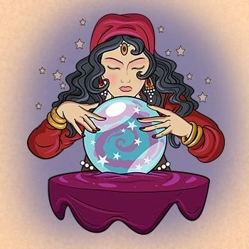 Woman with crystal ball clipart graphic royalty free library Girl Gypsy Crystal Ball Clipart   K3657688 #469795 ... graphic royalty free library