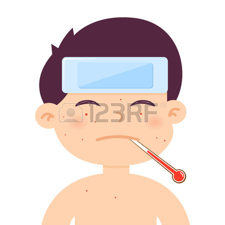 Woman with fever clipart
