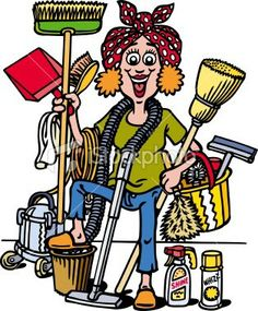 Cartoon Cleaning Lady Clipart | Free download best Cartoon ... banner royalty free