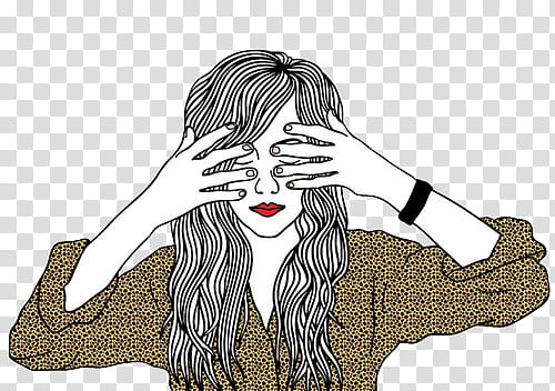 Woman with hair covering her eye clipart clip royalty free stock Dibujos, woman covering her eyes with her hands illustration ... clip royalty free stock