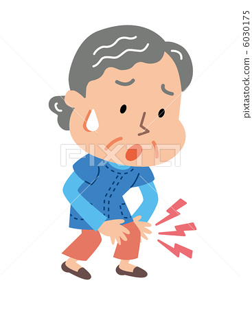 Woman with knee pain clipart clipart freeuse stock Elderly women suffering from knee pain - Stock Illustration ... clipart freeuse stock