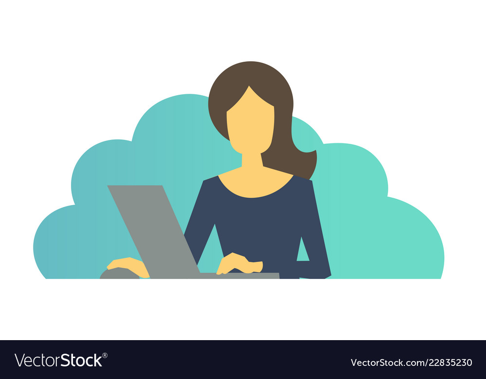 Woman with laptop clipart clipart library stock Business woman with laptop in office woman at clipart library stock