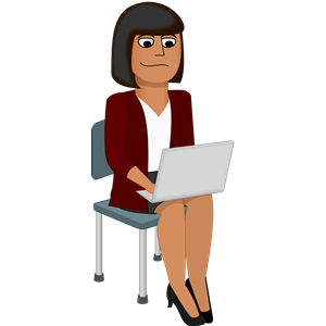 Woman with laptop clipart banner free download Young Woman with Laptop clipart, cliparts of Young Woman ... banner free download