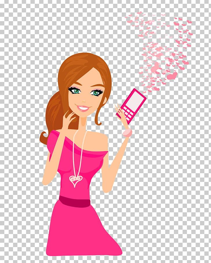 Woman with phone clipart clip download Mobile Phone Telephone Girl PNG, Clipart, Arm, Art, Cartoon ... clip download