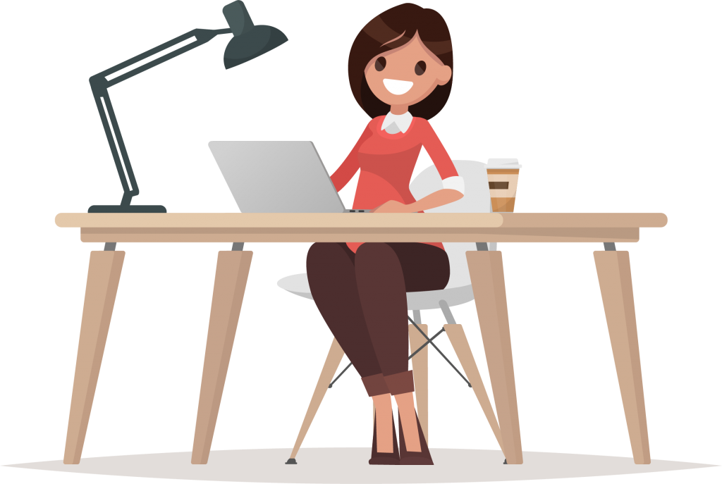 Woman working at desk clipart looking down clipart library library Employer-provided Group Life Insurance   PolicyMe clipart library library