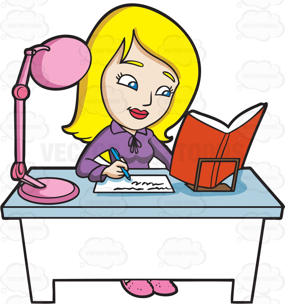 Woman working at desk clipart looking down png black and white library Students Working Together Clipart   Free download best ... png black and white library