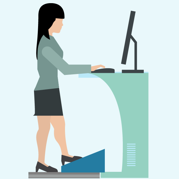 Woman working at desk clipart looking down jpg transparent library Calories Burned Standing vs Sitting Calculator (Fall 2019 ... jpg transparent library
