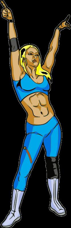 Woman wrestler clipart graphic free download Free Clipart: Female Professional Wrestler | jpneok graphic free download