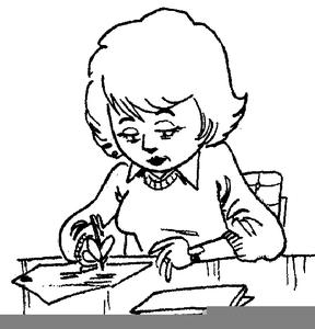 Woman writing hand clipart black clip art free download Woman Writing A Letter Clipart | Free Images at Clker.com ... clip art free download