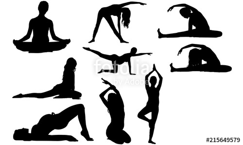 Woman yoga clipart free png royalty free library Pregnant Woman Yoga Silhouette | Yoga by Expectant Mother ... png royalty free library