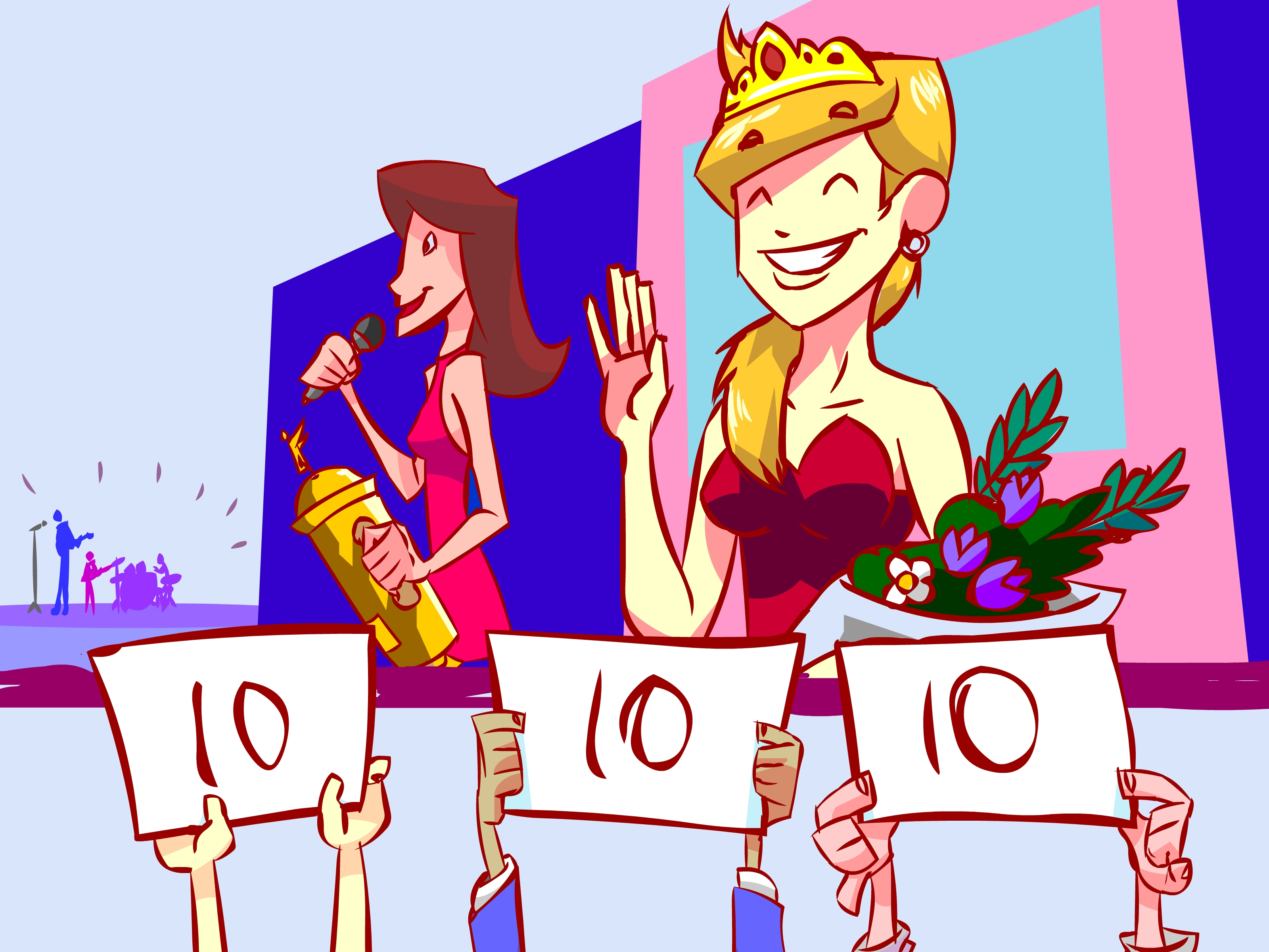 Womanless beauty pageant clipart vector transparent download How to Form a Beauty Pageant: 9 Steps (with Pictures) - wikiHow vector transparent download