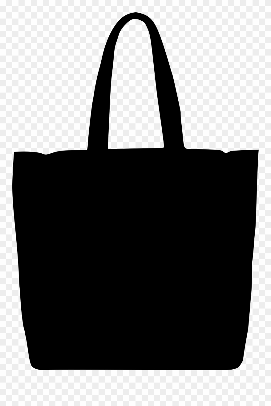 Womans tote clipart black and white svg black and white download Women Bag Clipart Big Bag - Handbag Silhouette - Png ... svg black and white download