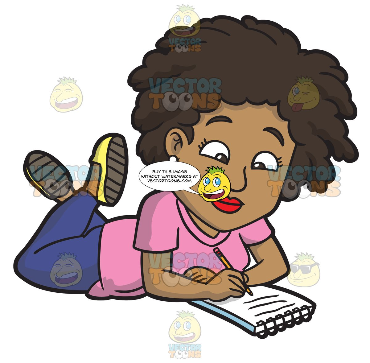Womans writing hand clipart black svg library library A Black Woman Scribbling Down Some Notes svg library library