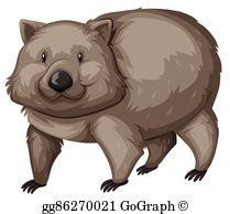 Wombat pictures clipart banner free library Wombat Clip Art - Royalty Free - GoGraph banner free library