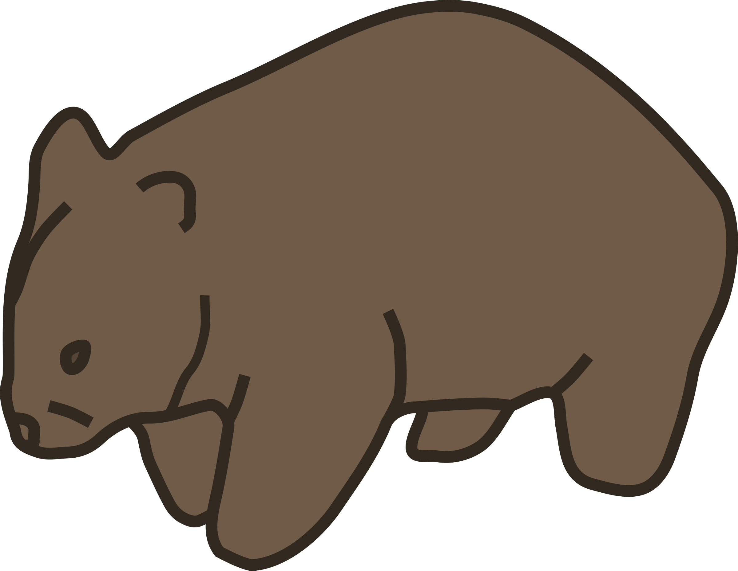 Wombat pictures clipart picture black and white download Wombat clipart » Clipart Station picture black and white download