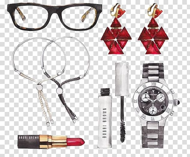 Women accessories clipart graphic library download Earring Glasses Fashion accessory, Women\\\'s Accessories ... graphic library download