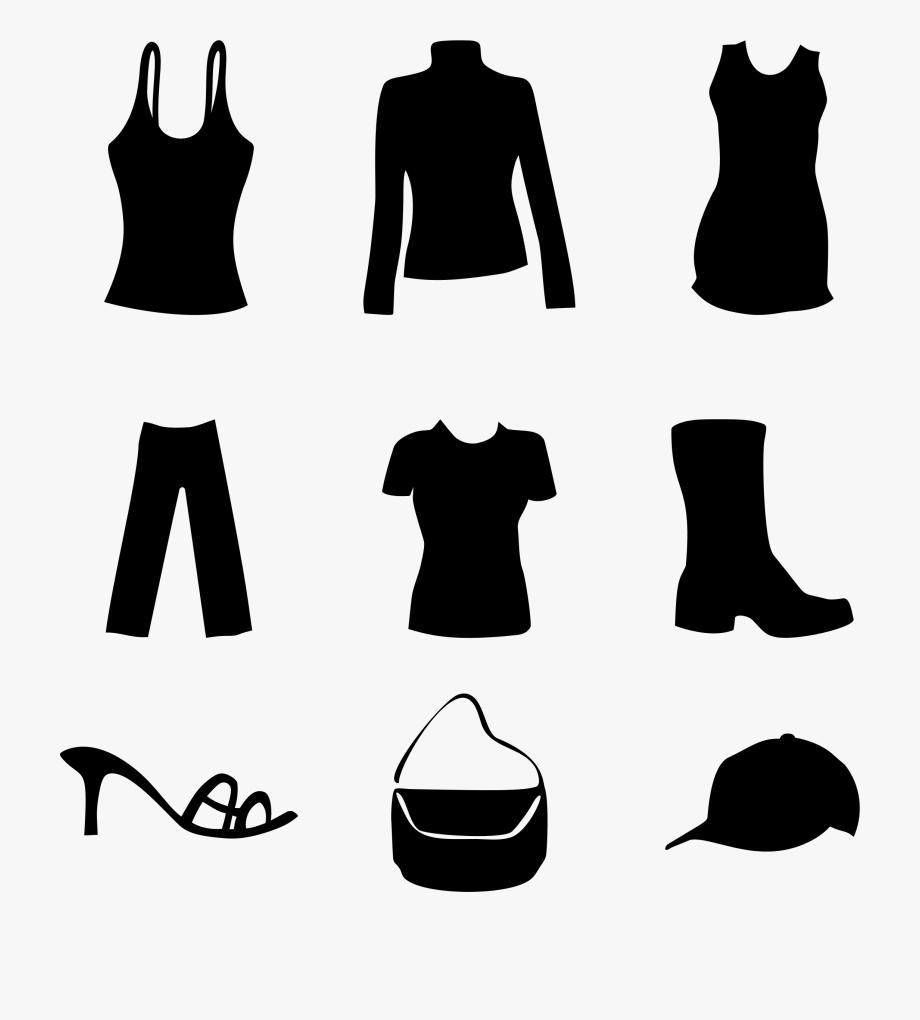 Women accessories clipart graphic transparent Clipart Women S And Accessories Big Image - Clip Art Black ... graphic transparent