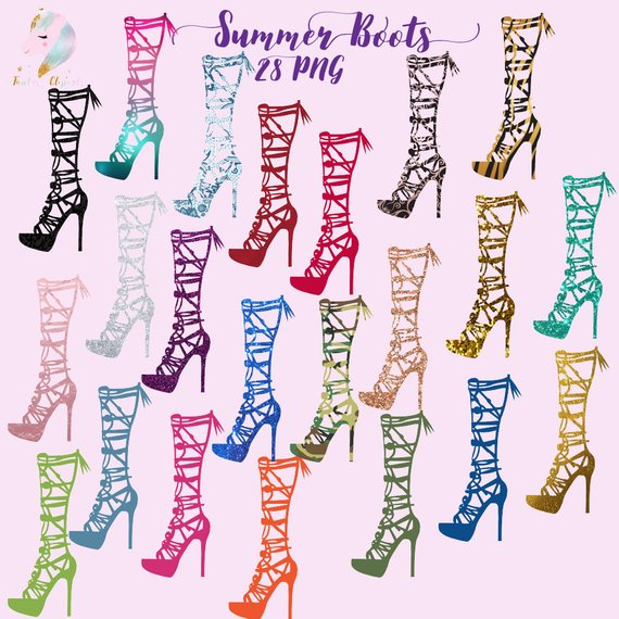 Women accessories clipart picture Summer boots, woman shoes, high heels clipart, women ... picture