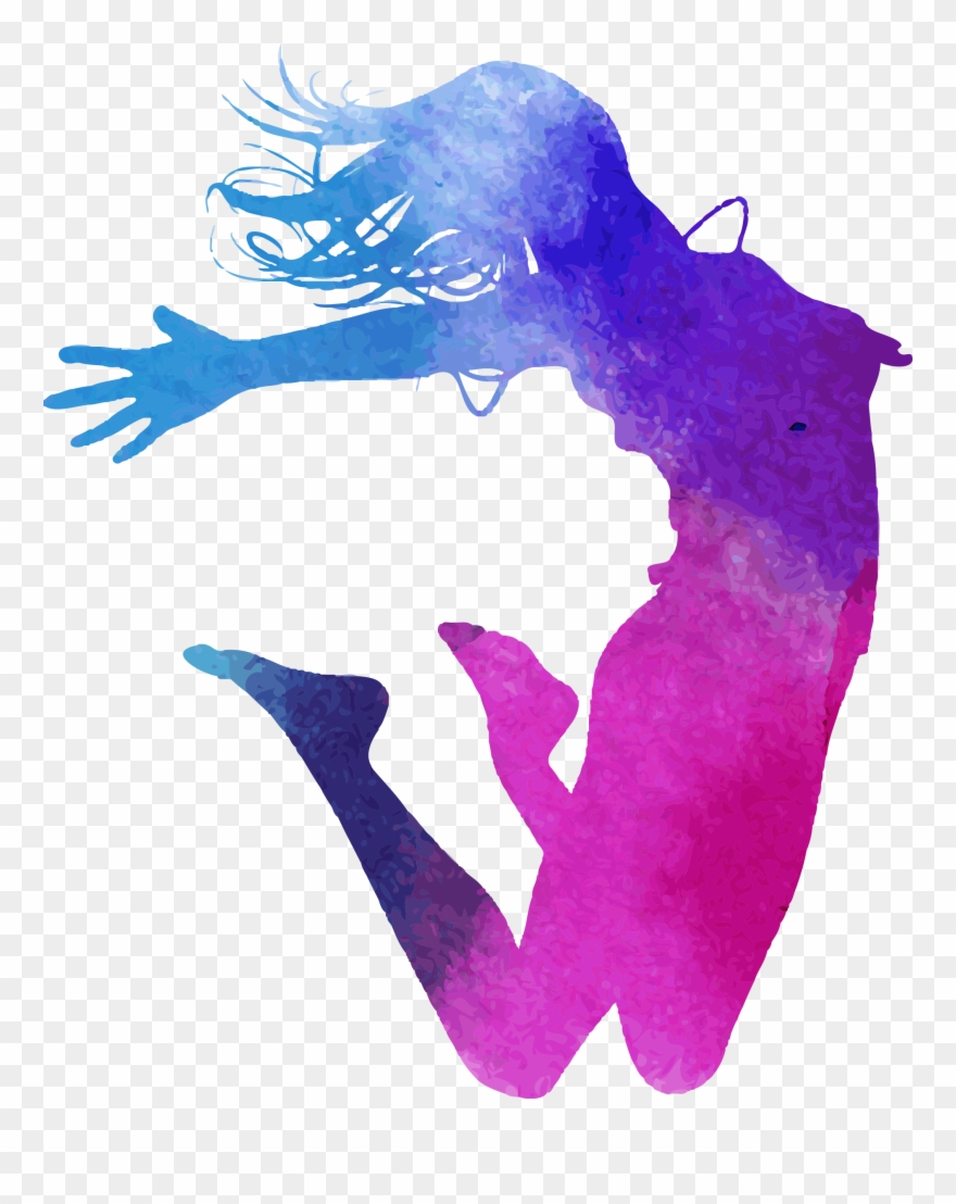 Women all colors clipart free jpg royalty free download Dance Watercolor Painting Illustration Color Ink Royaltyfree ... jpg royalty free download