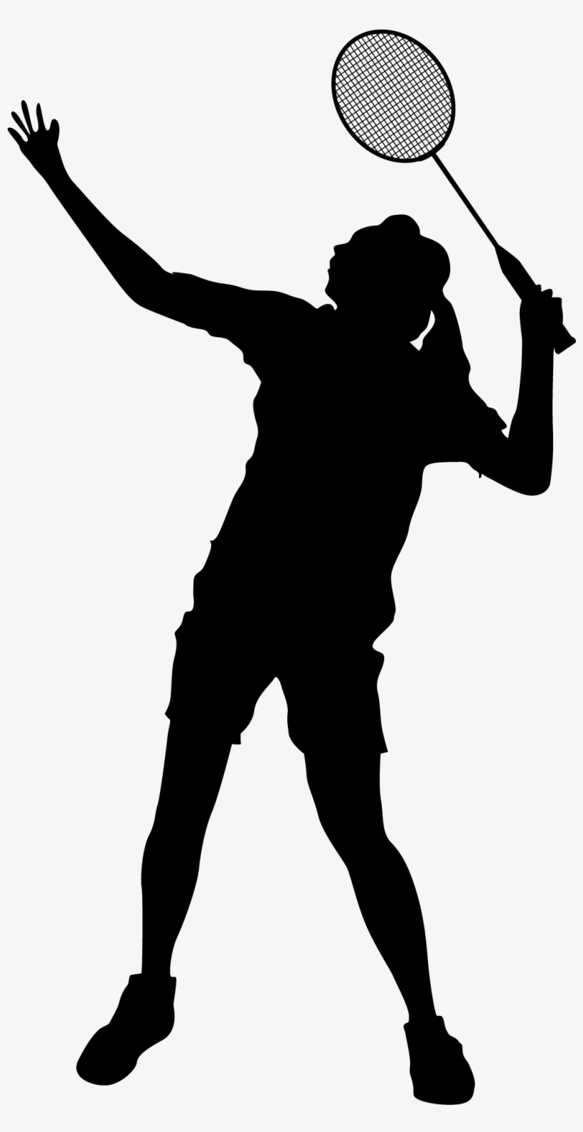 Women badminton player clipart free library Woman Silhouette Sketch At Getdrawings - Badminton Player ... free library
