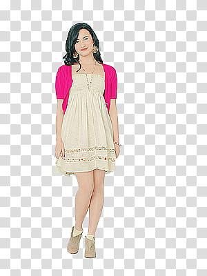 Women bolero clipart clipart stock S, standing woman in pink bolero with white strapless mini ... clipart stock