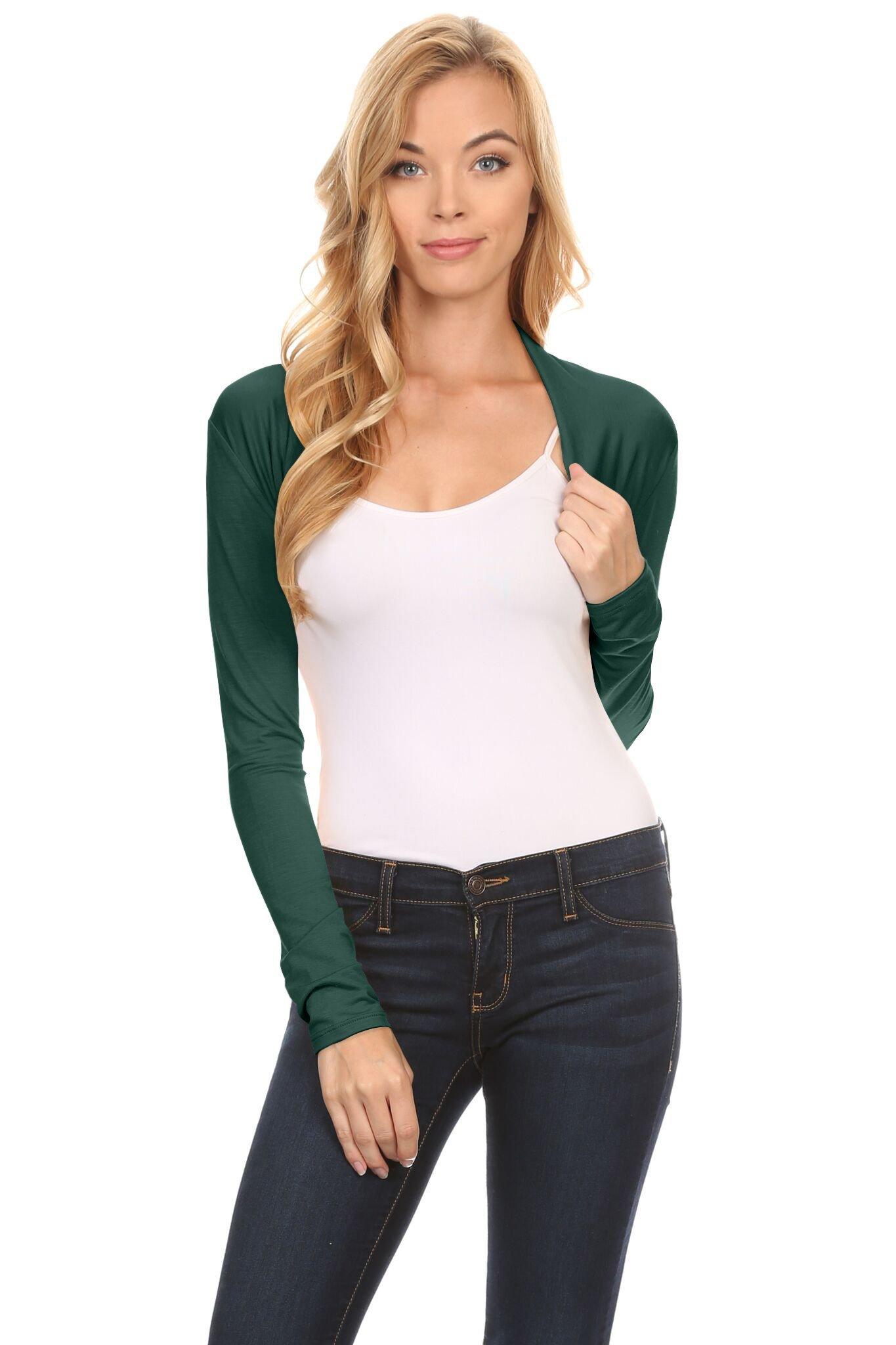 Women bolero clipart free Simlu Long Sleeve Bolero Shrug for Women - Made in USA ... free
